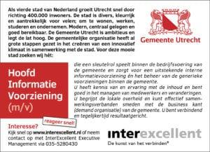 Hoofd Informatievoorziening gemeente Utrecht