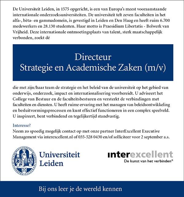 vacatures goed vervullen door interexcellent executive search en interimde universiteit leiden is de eerste universiteit van nederland willem van oranje schonk in 1575 aan leiden de academia lugduno batava vanwege,